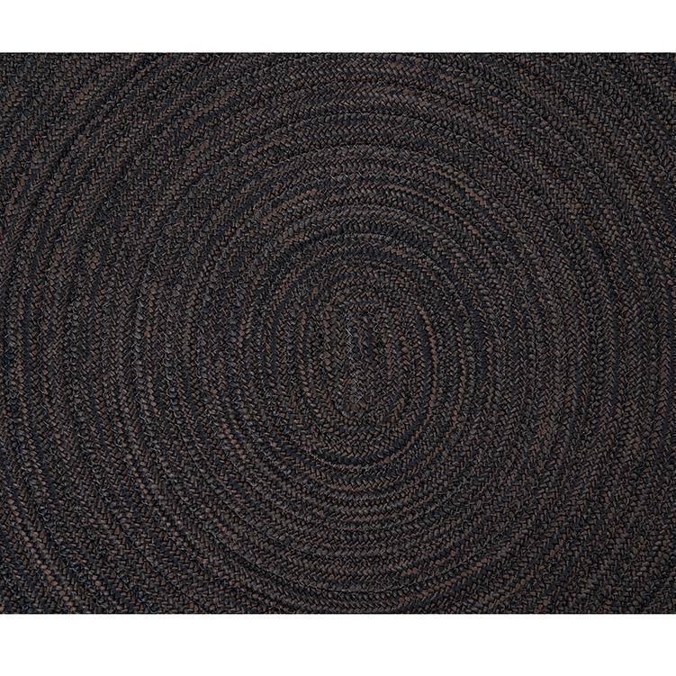 チューブ ラグ 円 200cm×200cm エスプレッソ
