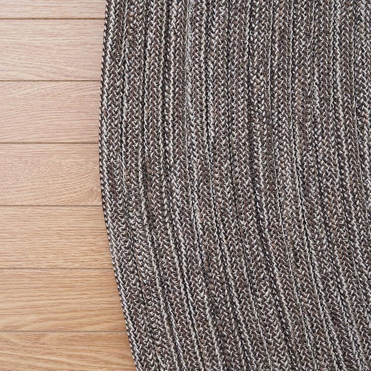 チューブ ラグ 楕円 140cm×200cm モカ