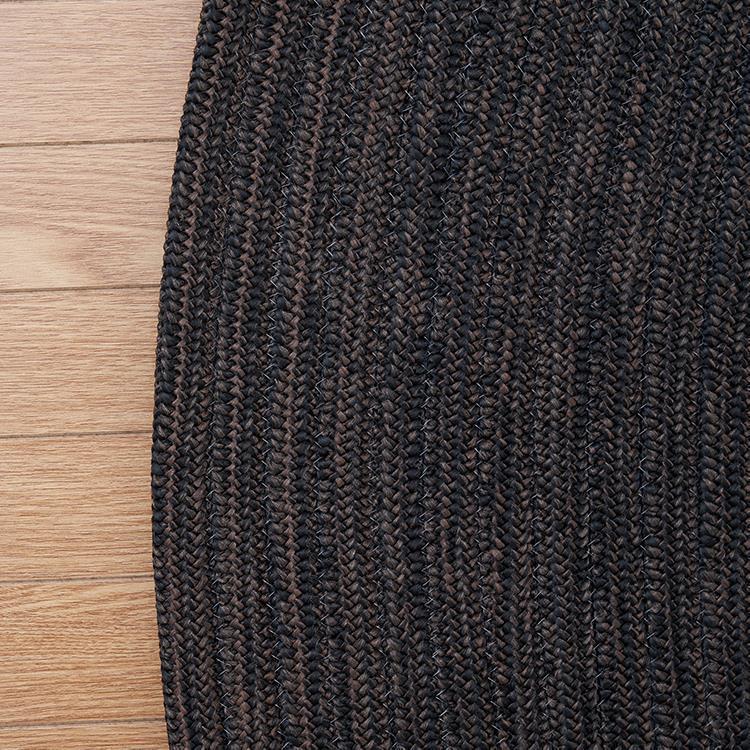 チューブ ラグ 楕円 140cm×200cm エスプレッソ