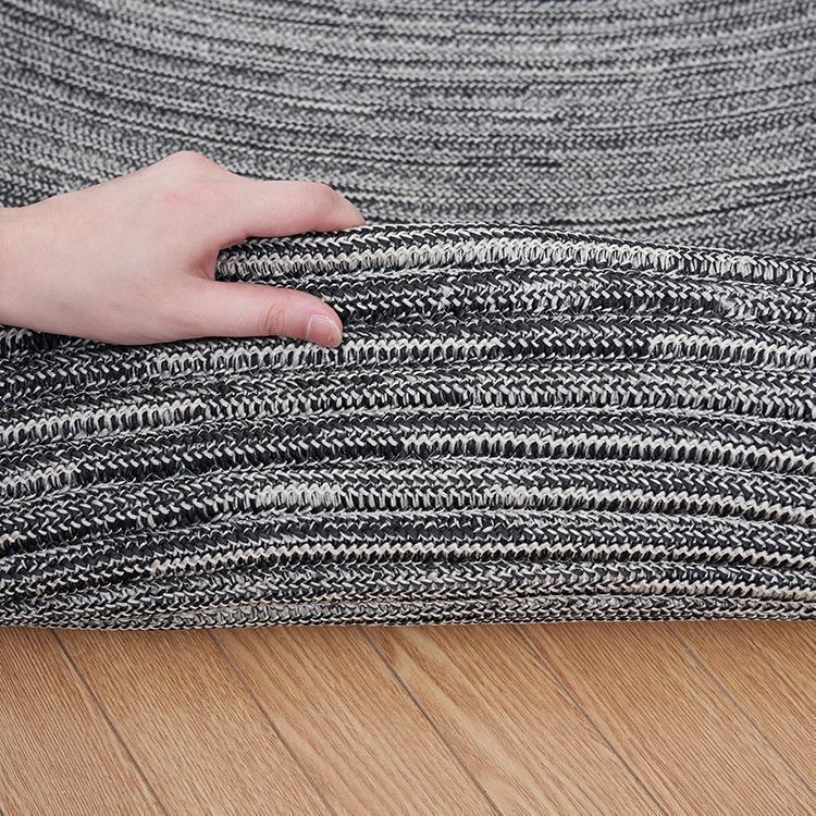 チューブ ラグ 楕円 140cm×200cm セサミ