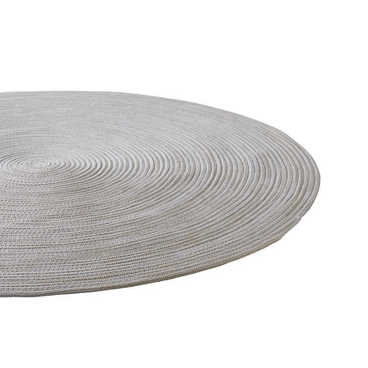 チューブ ラグ 円 160cm×160cm ラテ