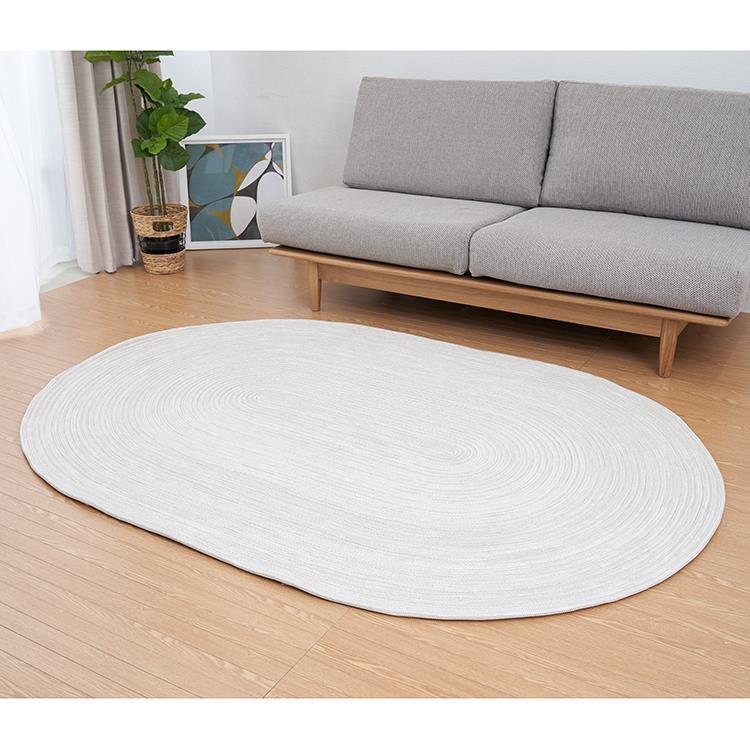 チューブ ラグ 楕円 140cm×200cm ラテ