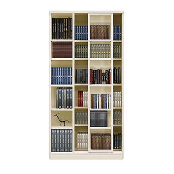 TW-S スライド書棚 90cm幅 WH