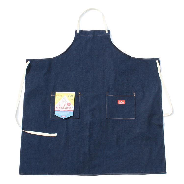 Cookman ロングエプロン デニム(ネイビー) Fサイズ