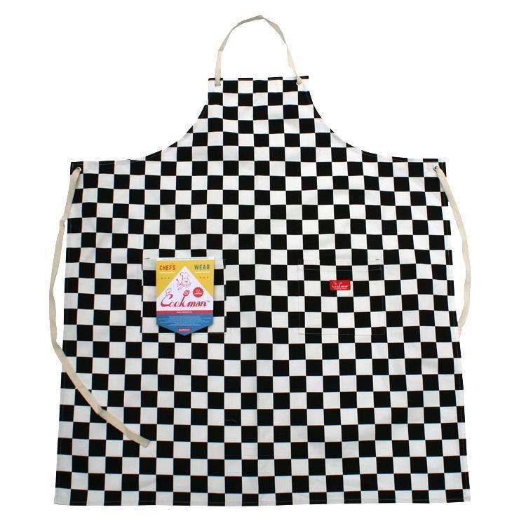 Cookman ロングエプロン チェッカー(ブラック) Fサイズ