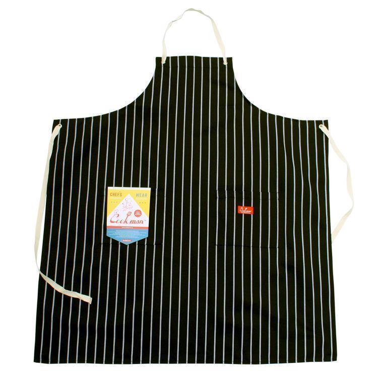 Cookman ロングエプロン ストライプ(ブラック) Fサイズ