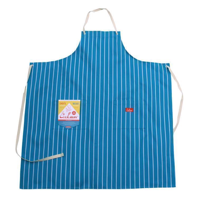 Cookman ロングエプロン ストライプ(ライトブルー) Fサイズ