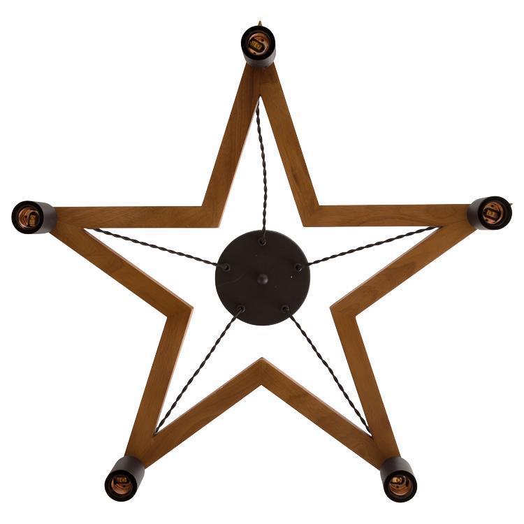 5BULB WOOD STAR  M  BR×BK