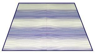 ニューグラデ い草ラグ 色込 176×176