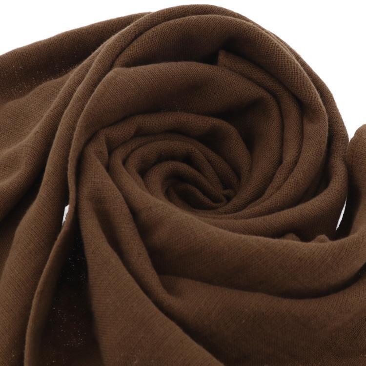 GAUZE(ガーゼ)フェイスタオル BR ブラウン 34×85cm