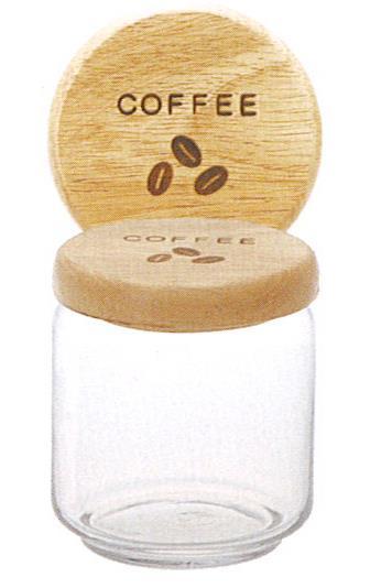 081555  ガラスキャニスター COFFEE L