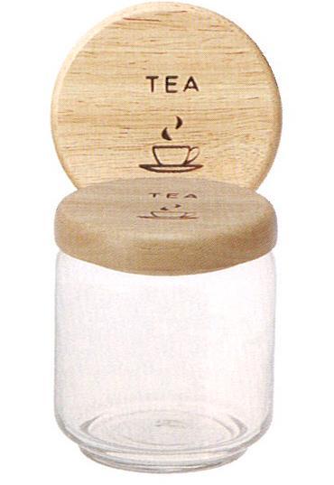 081655  ガラスキャニスター TEA L