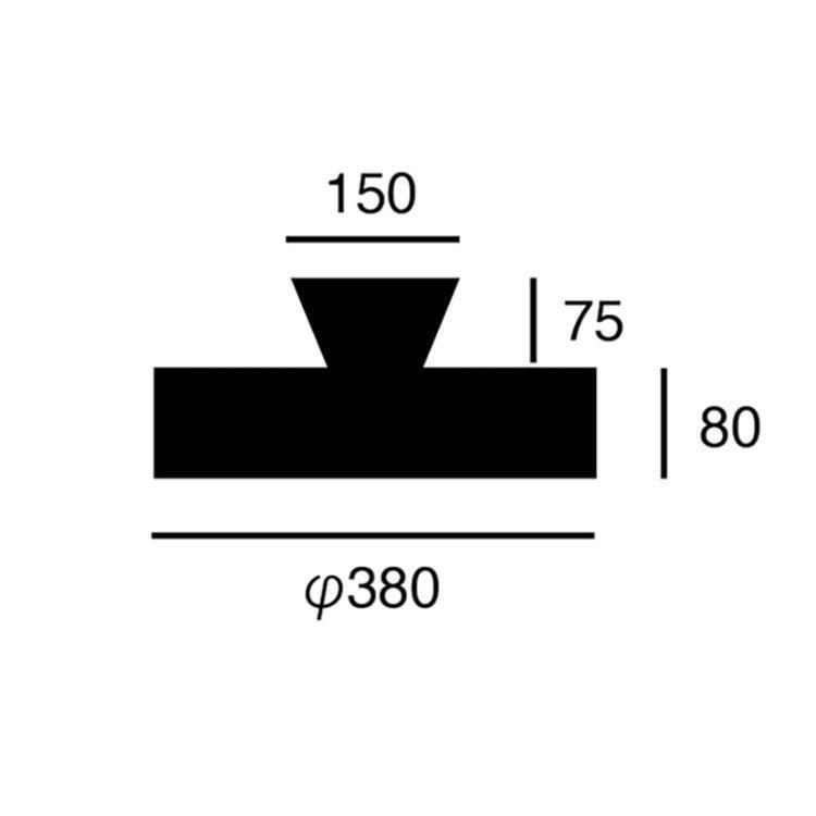 AW-0555E グロー4000 LEDシーリングランプ 8帖用 BK/GD