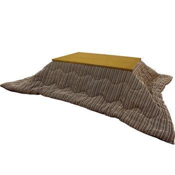 こたつ薄掛布団 ラダー 長方形 185cm×235cm BR