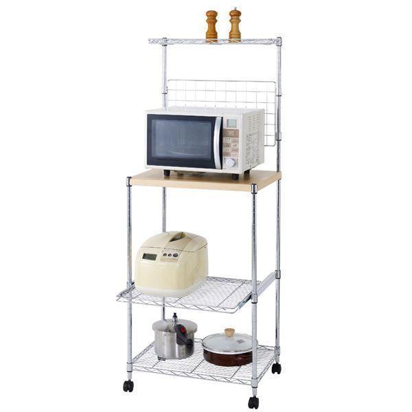 フィール「MD6015-4MR 木棚付きキッチンレンジ台「60W」