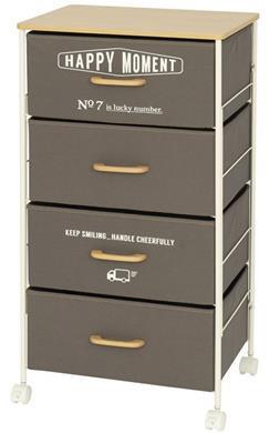 NC50-4GY  布製ボックスのチェスト4段50W GY