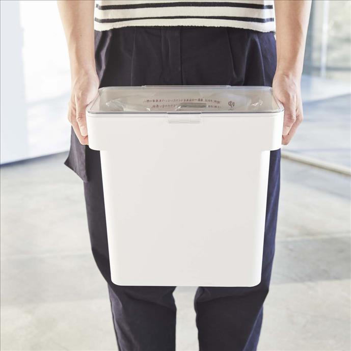 TOWER 密閉 袋ごと米びつ5kg カップ付 WH