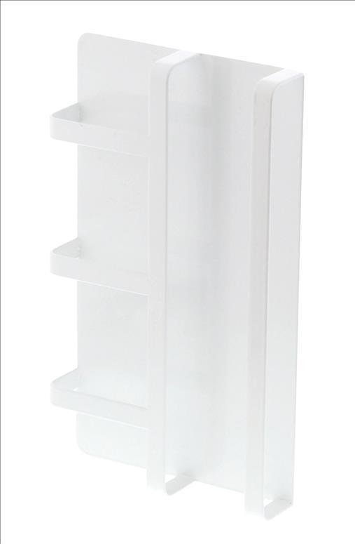 TOWER マグネット冷蔵庫サイドレシピラック WH