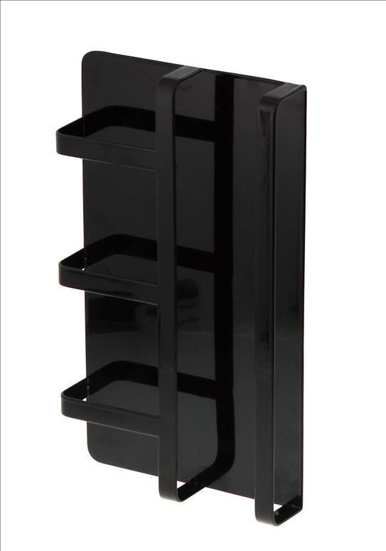 TOWER マグネット冷蔵庫サイドレシピラック BK