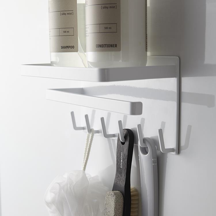 マグネット 浴室多機能ラックタワー  WH