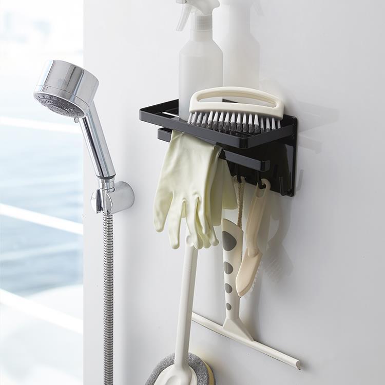 マグネット 浴室多機能ラックタワー  BK
