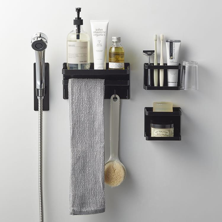 マグネット 浴室シャワーフックタワー  BK