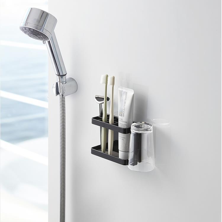 マグネット 浴室歯ブラシスタンドタワー  BK