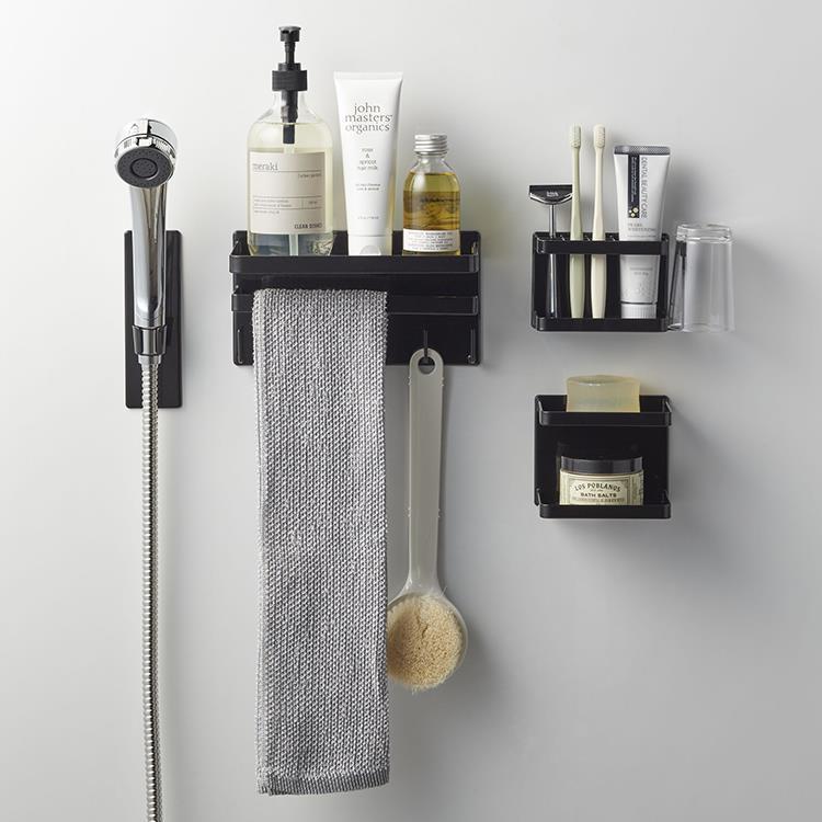 マグネット 浴室ソープトレー2段タワー  BK