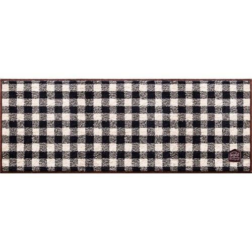 カフェするギンガムチェックキッチンマット  45×120