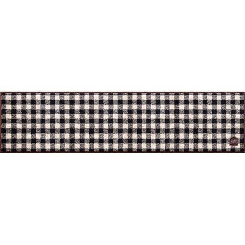 カフェするギンガムチェックキッチンマット  45×180