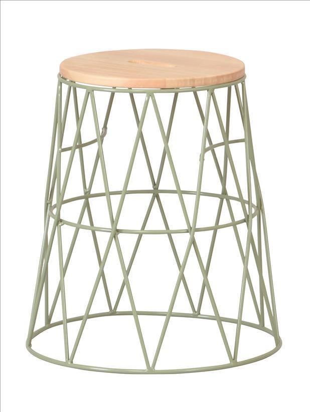 SWS-280(GN)  stacking wire stool