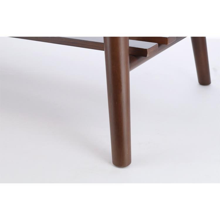 ラック付き折れ脚テーブル ラーク  100×50  DBR