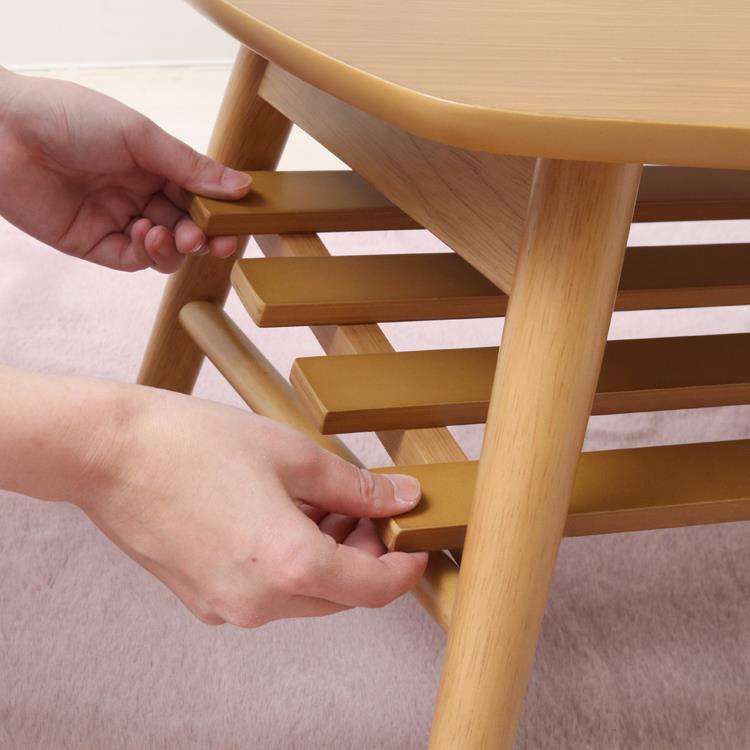 ラック付き折れ脚テーブル ラーク  100×50  NA