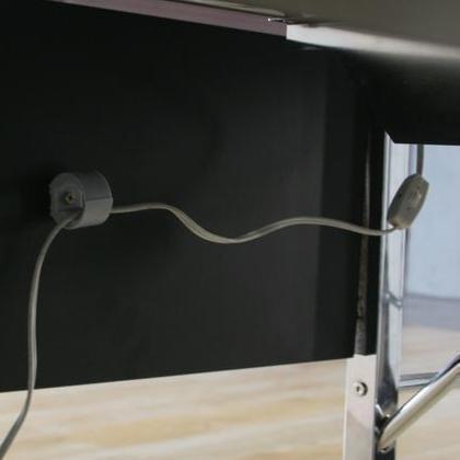 ガラスPCデスク L型 BK CT-1040 80598