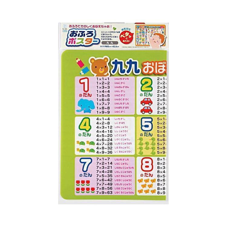 お風呂ポスター 九九 500