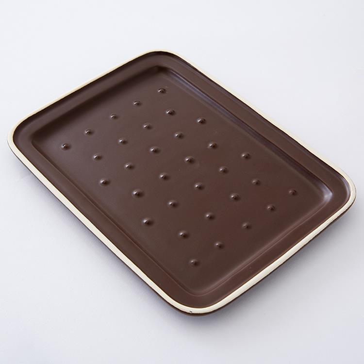 陶器調理皿 グリラー カカオ