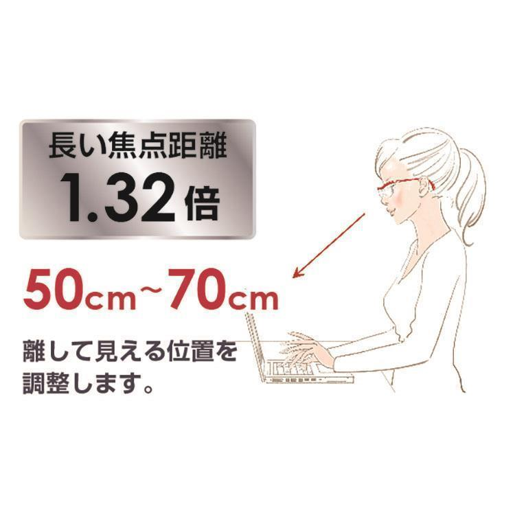 ハズキルーペ コンパクト クリアレンズ 1.6倍  ルビー