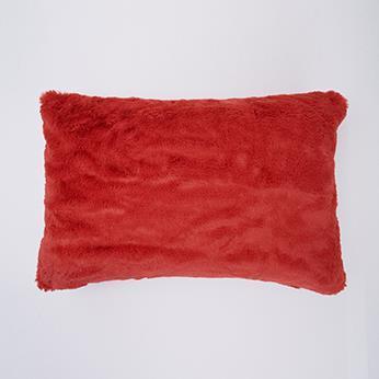 ラビットファー 枕カバー 43cm×63cm RD TH-804