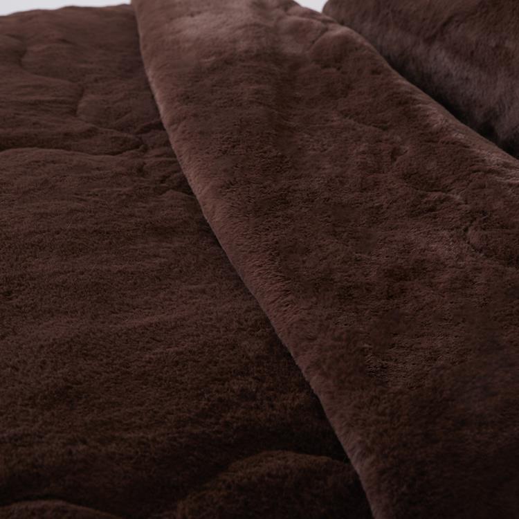ラビットファー+3℃ TH-901S 毛布 BR シングル