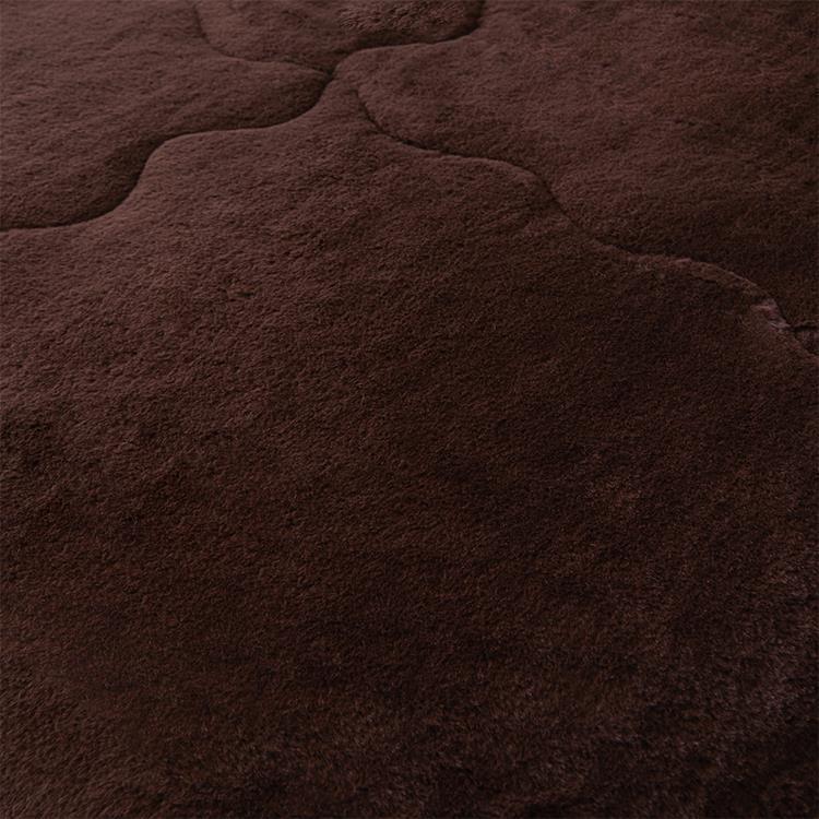 ラビットファー+3℃ TH-901D 毛布 BR ダブル