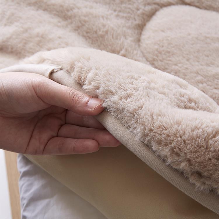 ラビットファー+3℃ TH-902SD 敷きパッド BE セミダブル