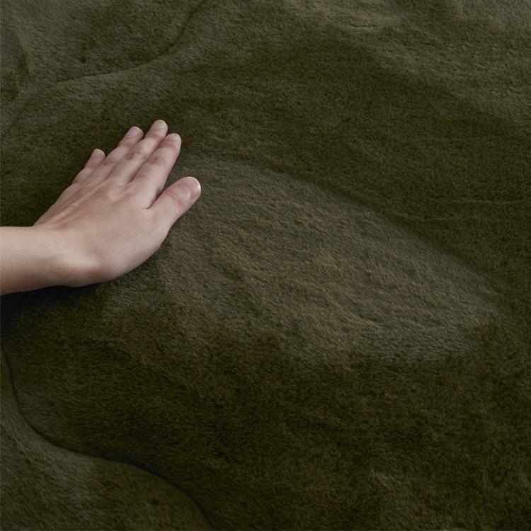 ラビットファー+3℃ 敷きパッド  セミダブル  KH