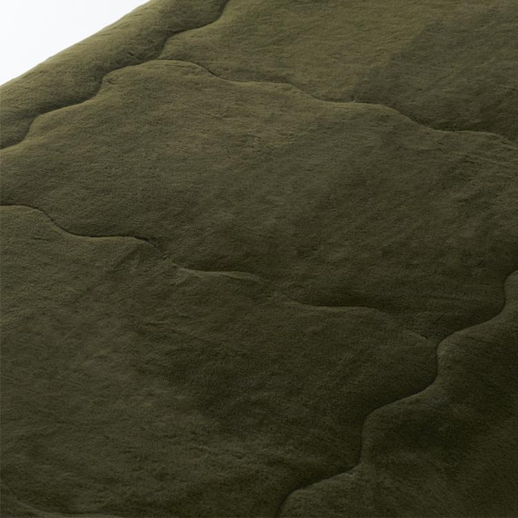 ラビットファー+3℃ 敷きパッド  ダブル  KH