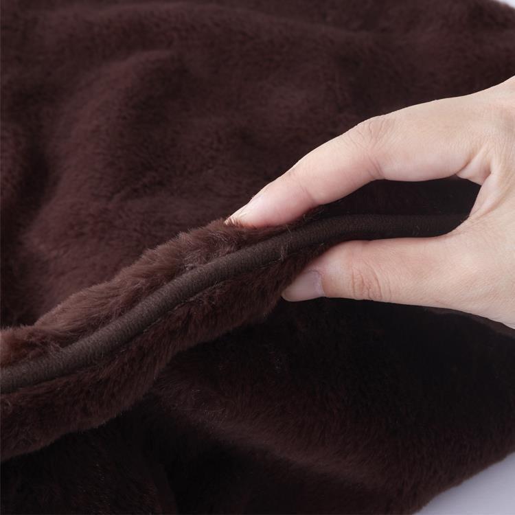 ラビットファー+3℃ TH-904 枕カバー BR 43×63