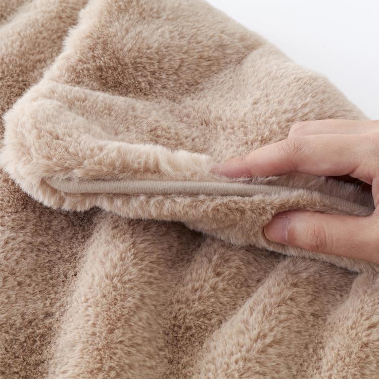 ラビットファー+3℃ 枕カバー  43×63  BE