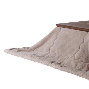 こたつ薄掛布団 ラビットファー+3℃ 正方形 190cm×190cm BE