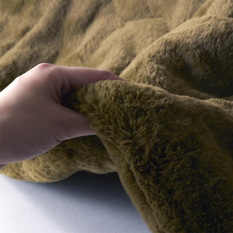 こたつ薄掛布団 ラビットファー+3℃ 正方形 190cm×190cm KH
