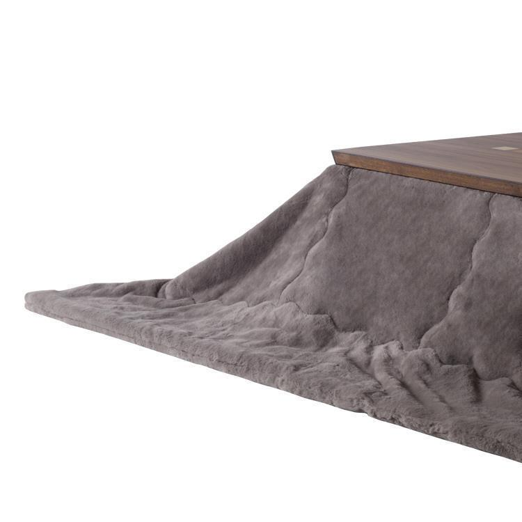 こたつ薄掛布団 ラビットファー+3℃ 長方形 190cm×240cm GY