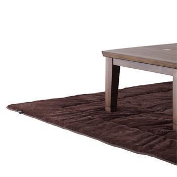 こたつ敷布団 ラビットファー+3℃ 正方形 190cm×190cm BR