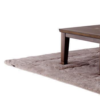 こたつ敷布団 ラビットファー+3℃ 正方形 190cm×190cm BE